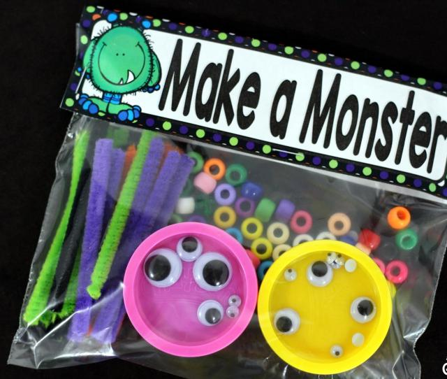 Make A Monster Is The Perfect Candy Free Halloween Gift This Activity Is Great