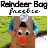 This Reindeer Bag is a fun way for your students to carry home all of their work home before Christmas break. A free template is included. Perfect for preschool, kindergarten, and first grade students.