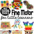 Here is our favorite fine motor toys and tools for teaching little learners. These are perfect for toddlers, preschool, kindergarten, and first grade students.