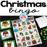 Play Bingo with your elementary age students for a fun Christmas themed game! Perfect for large groups in your classroom or small review groups. Add this to your Christmas or Holiday party with 30 unique Christmas Bingo boards with your students!  Teaching cards are also included in this fun game for young children! Black and white options available to save your color ink.