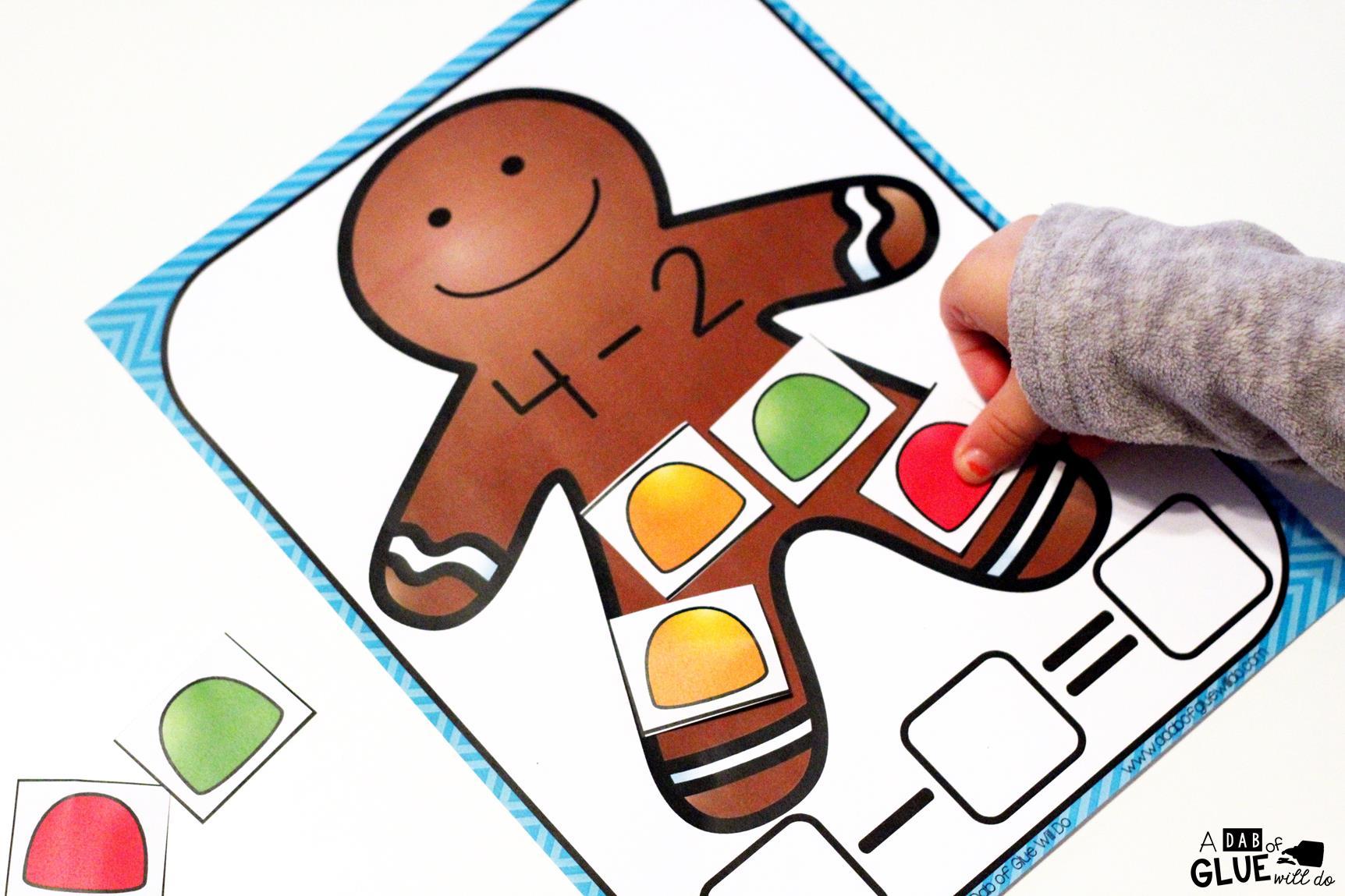 Gingerbread Subtraction Mats