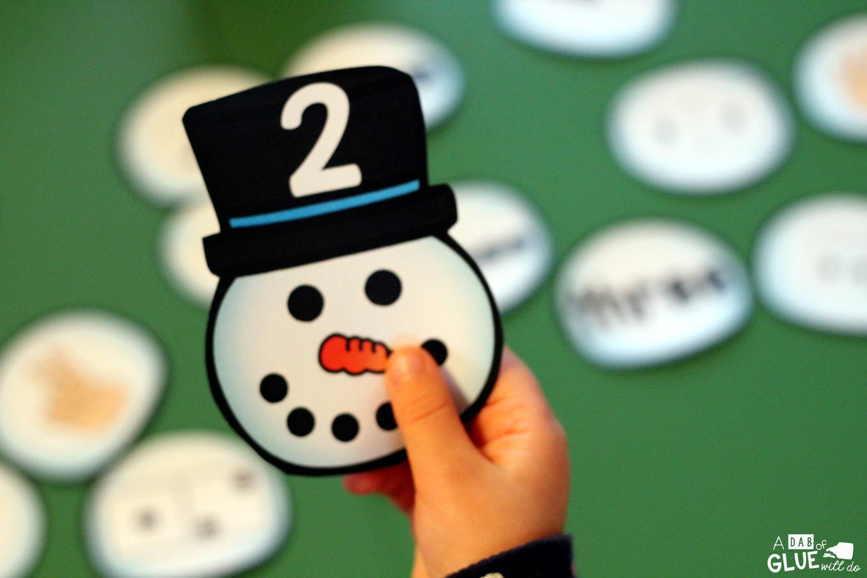 Snowman Number Match Printable