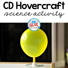 Tabletop CD Hovercraft Friction Science for Kids