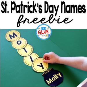 St. Patrick's Day Names – Name Building Practice Printable