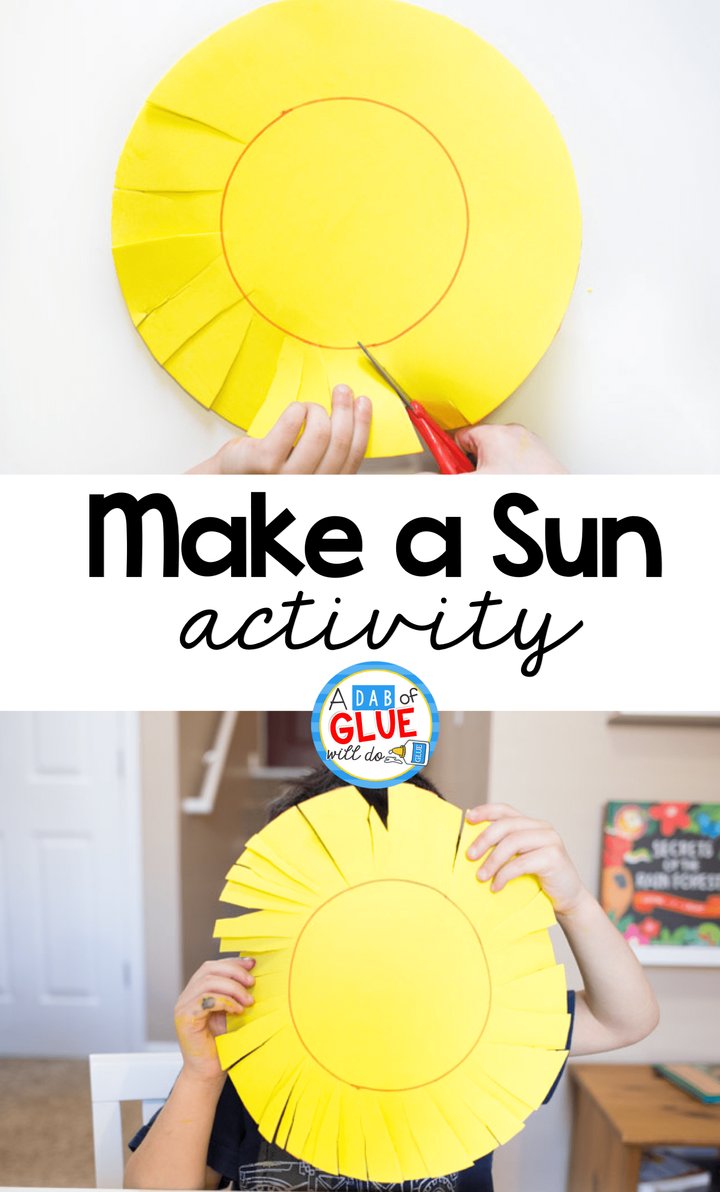 Make A Sun Scissor Skills Activity
