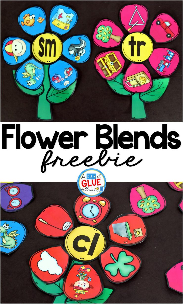 Flowers Blend Match-Up is the perfect addition to your spring literacy centers. This free printable is perfect for kindergarten and first grade students.