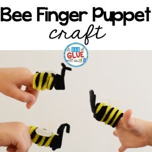 Bee Finger Puppet Craft