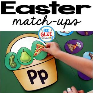 Easter Initial Sound and Number Match-Ups