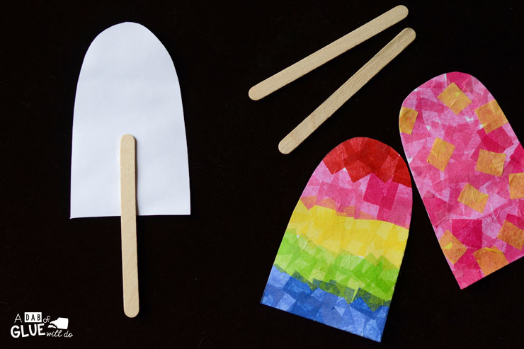 One of the first things my kids think about as soon as the weather warms up is popsicles! So we just couldn't help but make this fun, colorful popsicles fine motor craft.