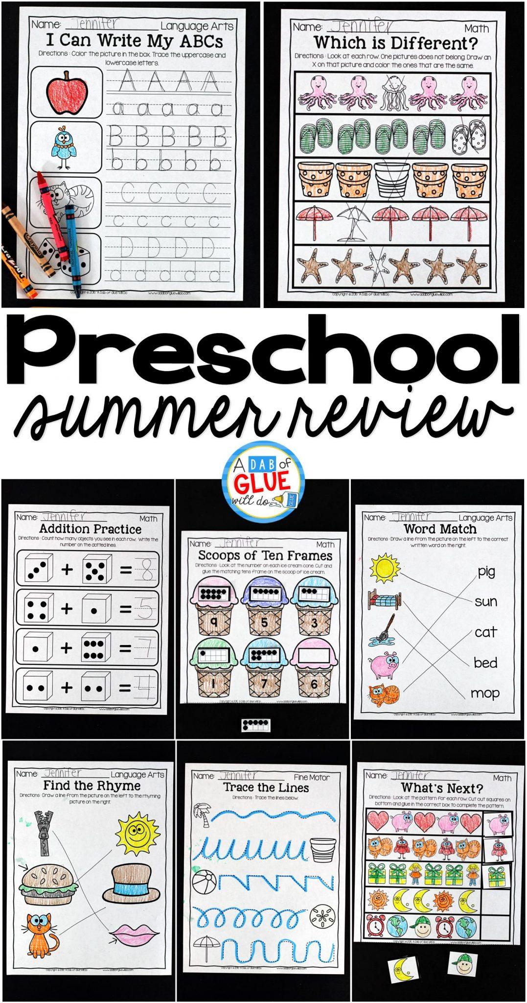 Preschool Pre K Summer Review
