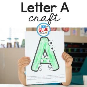 Animal Alphabet Letter A Craft