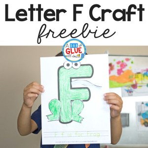 Animal Alphabet F is for Frog Craft