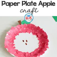 Fine Motor Paper Plate Apple Craft