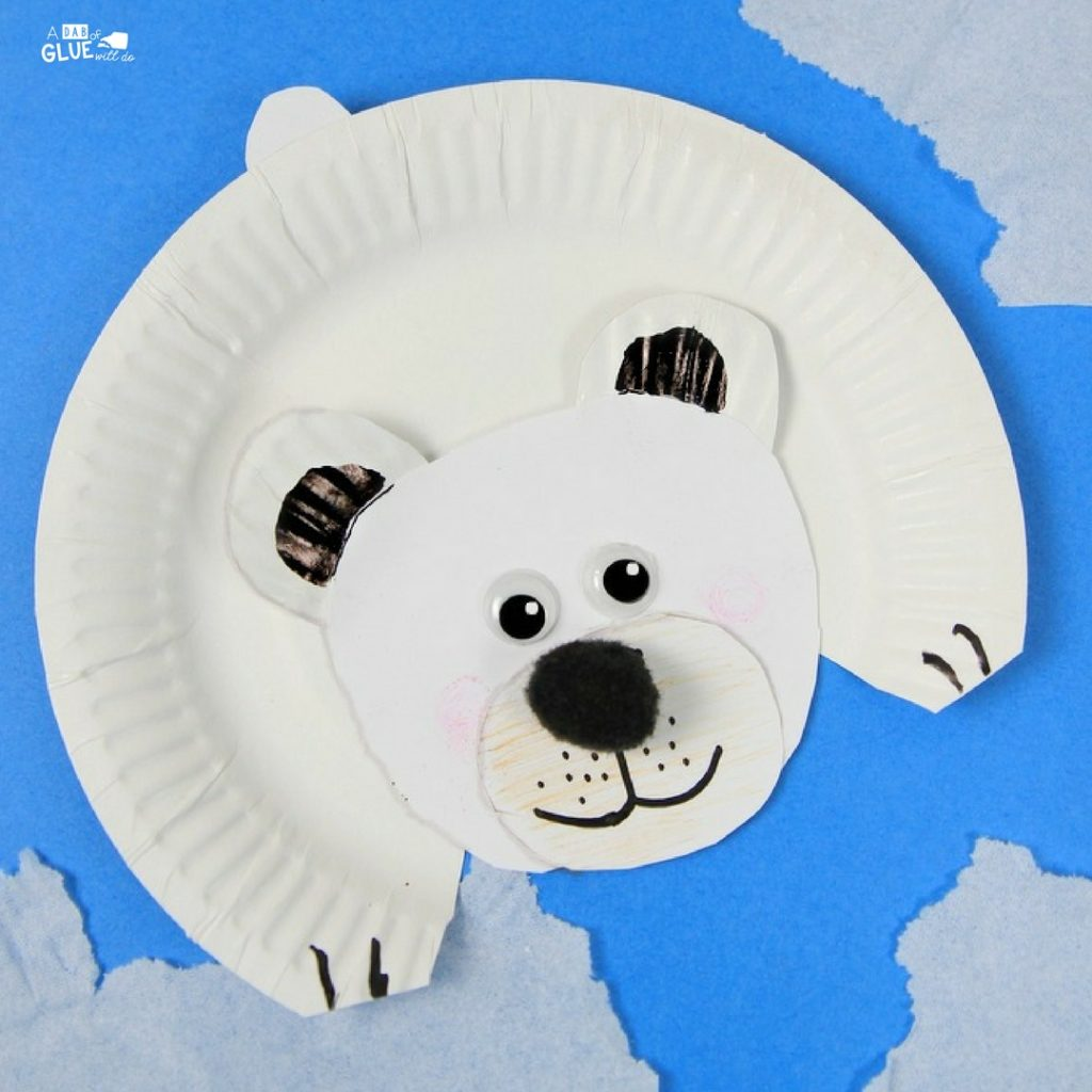 Arctic Animals For Kids Polar Bear Craft