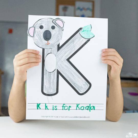 Animal Alphabet K Is For Koala Craft
