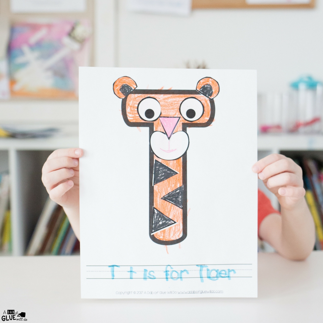 Animal Alphabet T Is For Tiger Craft