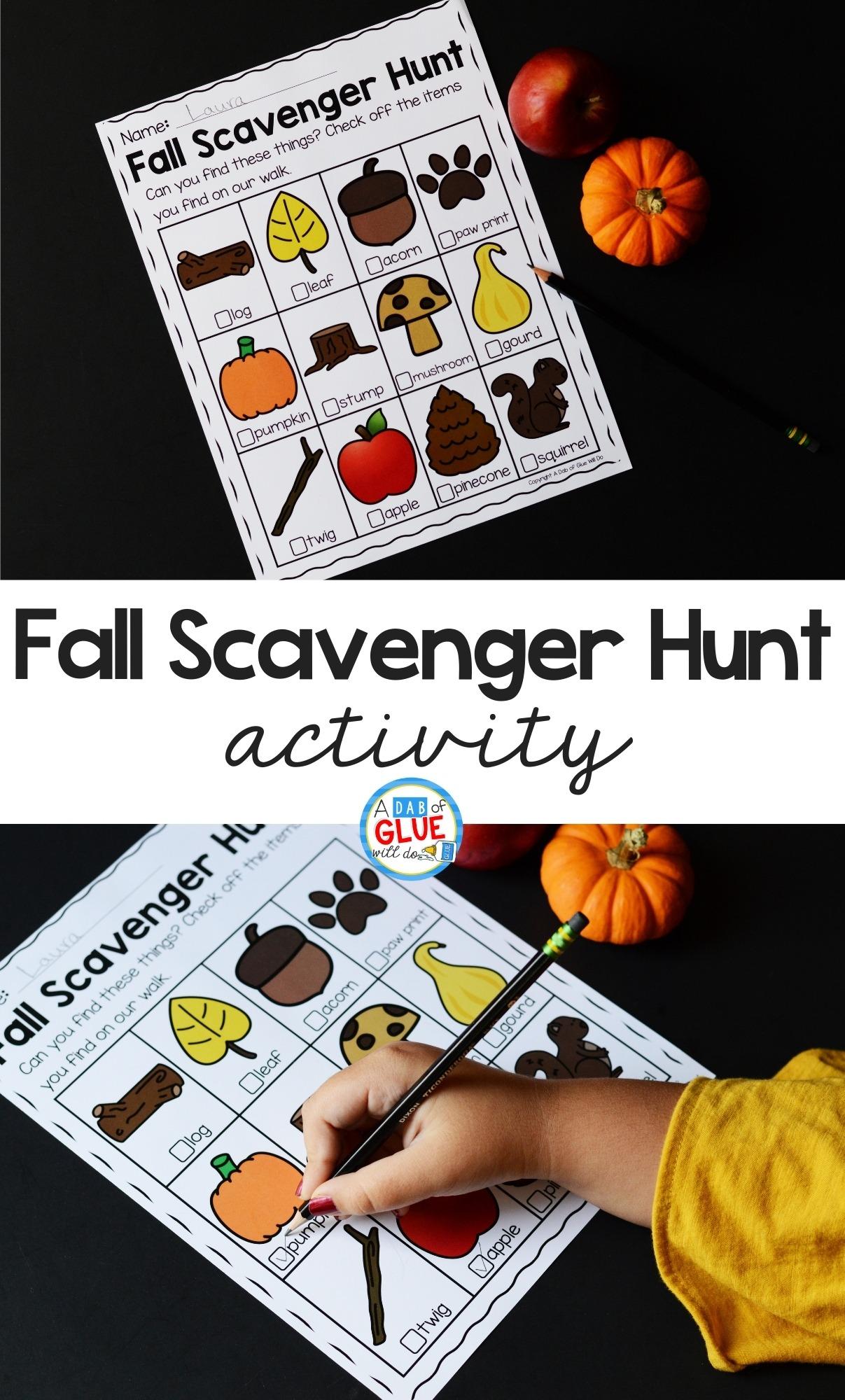 Fall Scavenger Hunt Activity