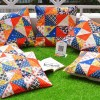 Breathtaking Handmade Patchwork Multicolor Cushion Covers