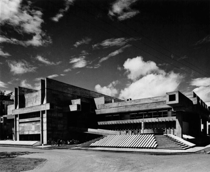 Arata Isozaki, Ōita Prefectural Library, 1962-66, Ōita, Japan. Photo courtesy of Yasuhiro Ishimoto. Courtesy of the Pritzker Architecture Prize