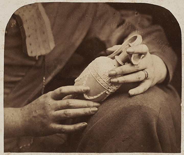 Oscar Gustaf Rejlander, British, born Sweden, 1813–1875, Study of Hands, 1856, Albumen silver print. Image: 14.8 x 17.6 cm (5 13/16 x 6 15/16 in.), National Gallery of Canada, Ottawa. Purchased 2014 (46254). Photo: NGC. EX.2019.5.6