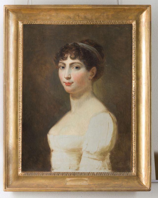 Andrea Appiani, Ritratto di Augusta Amalia di Baviera, 1806. Olio su tela, 44 x 58 cm. Galleria d'Arte Moderna, Milano