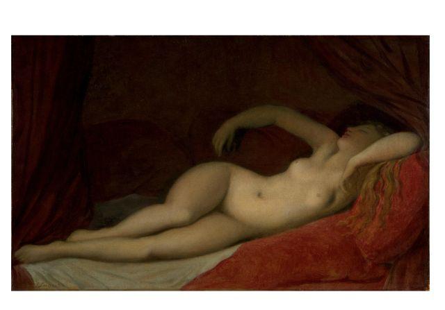 J.A.D. Ingres, Dormeuse, 1820 circa, Olio su tela, 29,8 x 47,6 cm. Londra Victoria and Albert Museum
