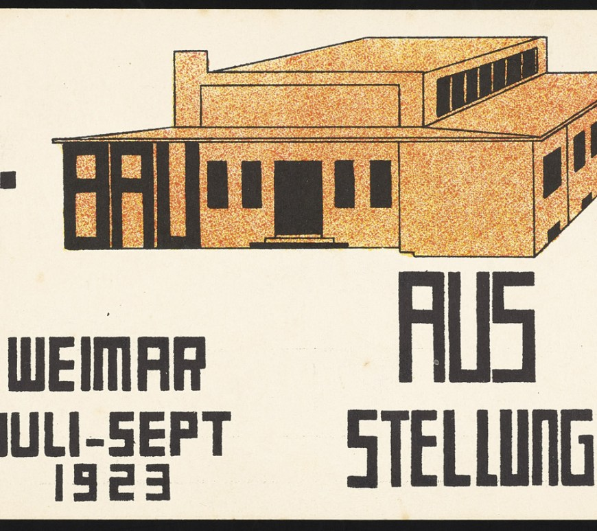 Paul Häberer (German, 1902 – 1978), Postcard for the Bauhaus Exhibition of 1923, Lithograph, Getty Research Institute, Los Angeles (850513) © Ute Menke