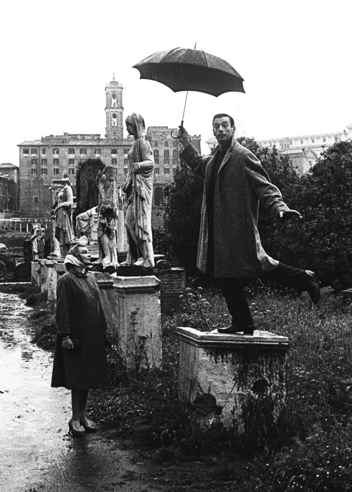 Simone Signoret e Yves Montand, Roma, Aventino, 1956. Foto Paolo Di Paolo, © Archivio Paolo Di Paolo