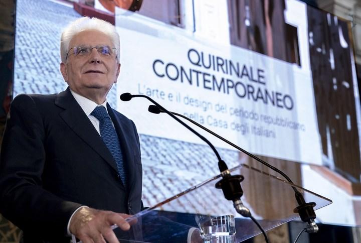 """Il Presidente Sergio Mattarella all'inaugurazione dell'iniziativa """"Quirinale contemporaneo"""". Courtesy Quirinale"""