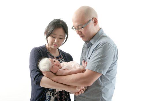 Victoria, dad, and mom