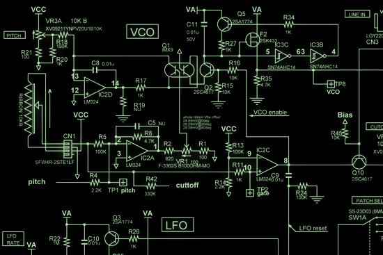 Korg Publishes Monotron Synthesizer Schematic Adafruit
