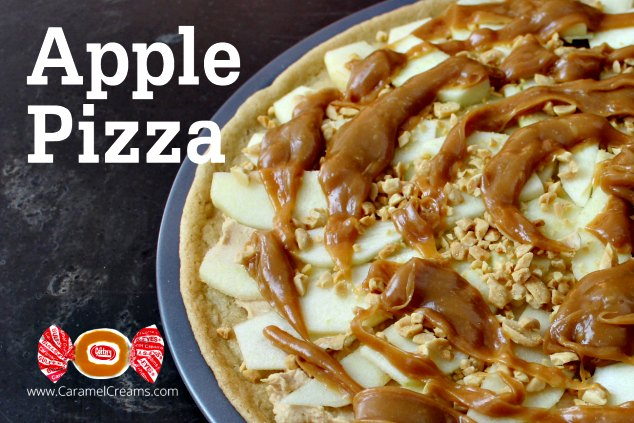 Apple Pizza made with Caramel Creams Candy