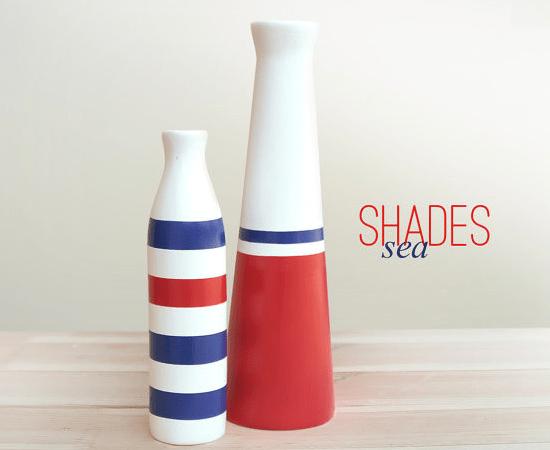 Nautical Ceramic Vases via adailypinch.com