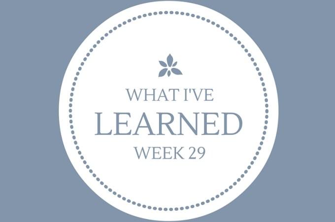 What I've Learned — Week 29 {Mind Over Matter}