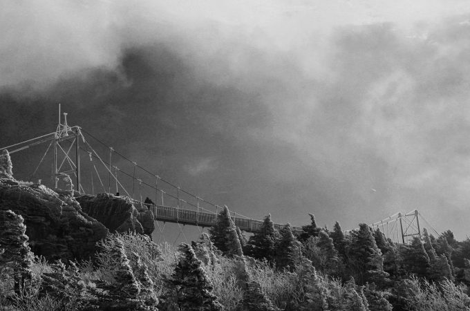 Mile High Swinging Bridge at Grandfather Mountain. November 2014