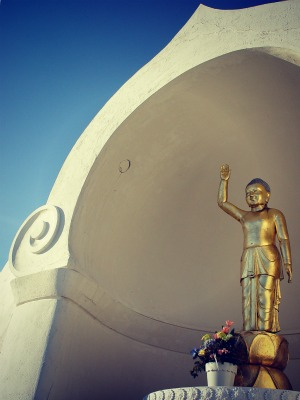 buddha greeting from the mountain