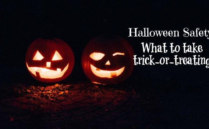 Pumpkins against a dark background on Halloween