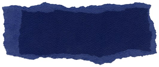 Texture of navy blue fiber paper with torn edges.