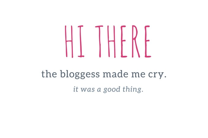 The Bloggess Made Me Cry. It was a good thing.