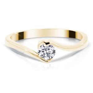 Verlobungsring Herz Brillant Gelbgold