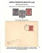 Pošta českých skautů 1918 - přítisk Příjezd prezidenta Masaryka (list z odcizeného alba)