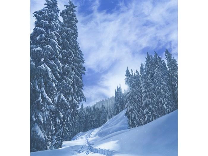 Austria Leogang Salzburg Salzburgerland Attew Painting Landscape artist art ski snowboard mountain winter Snow Alpine Alps Montagne Alpes