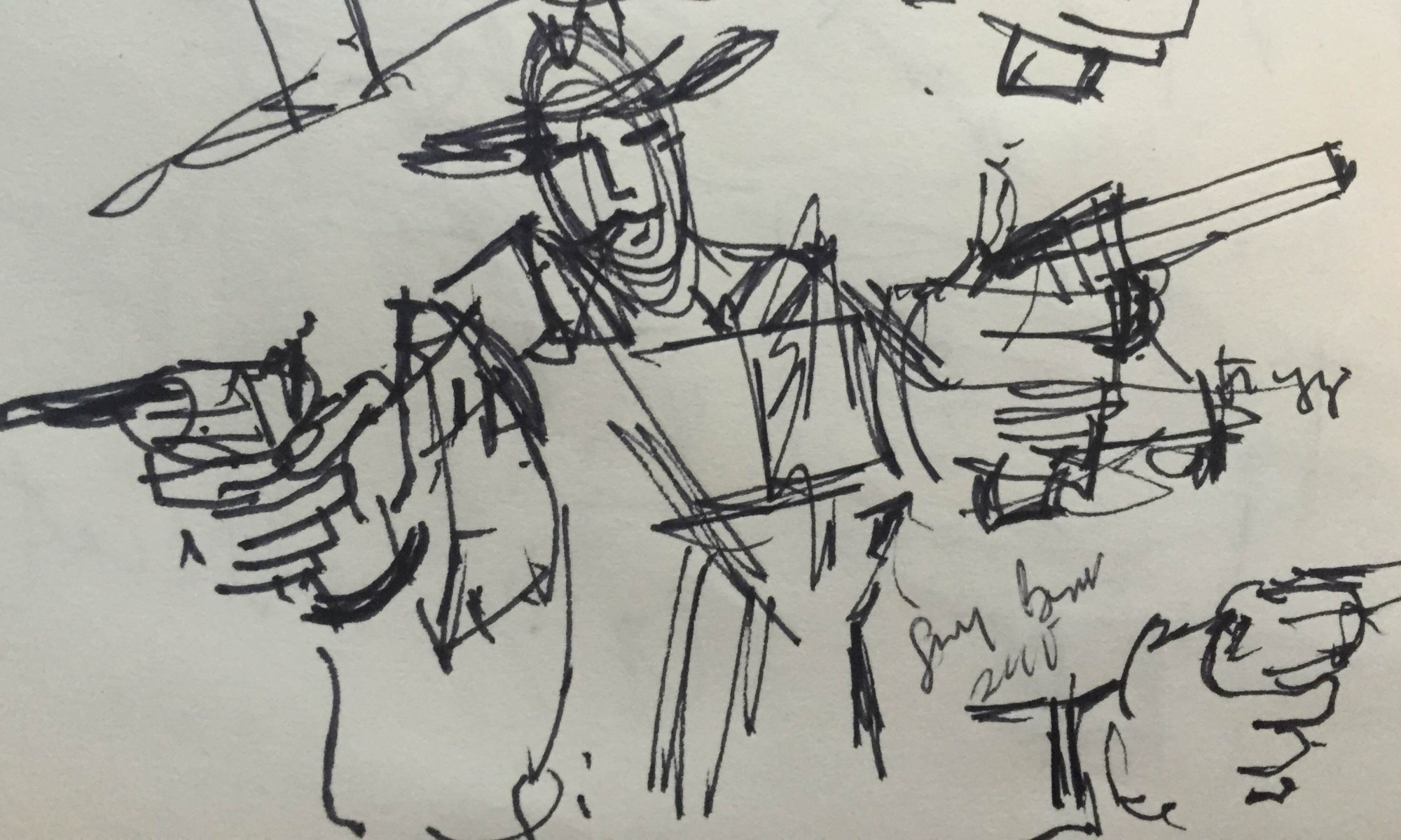 Cowboy with two guns