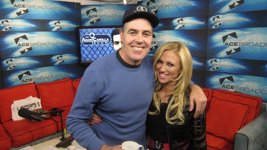 Debbie Gibson on Thursday's The Adam Carolla Show, which holds the Guinness World Record for the most downloaded podcast in the world!
