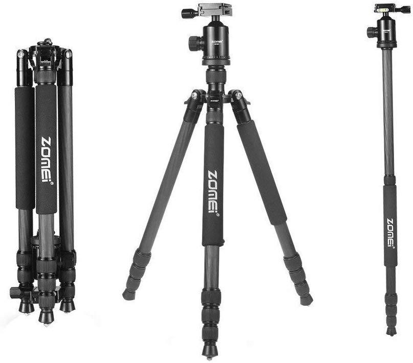 Zomei Z818C Portable Compact Photo Video Carbon Fibre Tripod