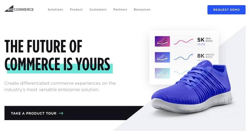 Página de inicio de BigCommerce