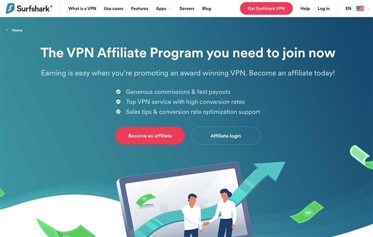 Programa de afiliados de Surfshark VPN