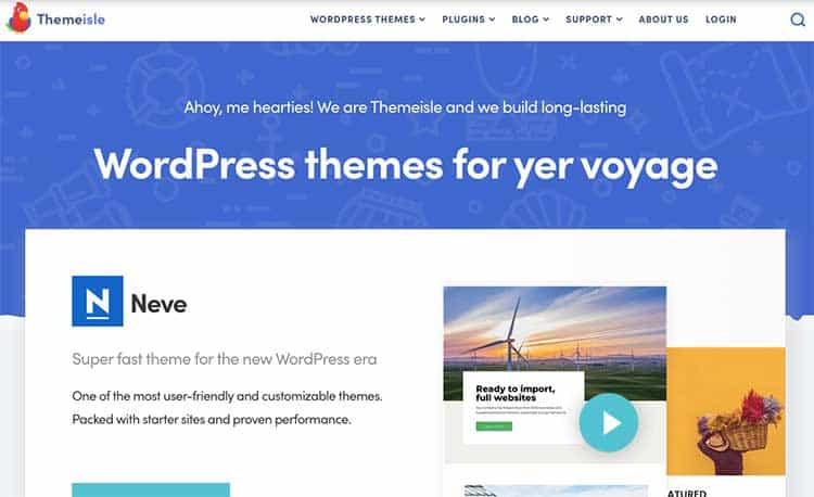 Homepage di Themeisle
