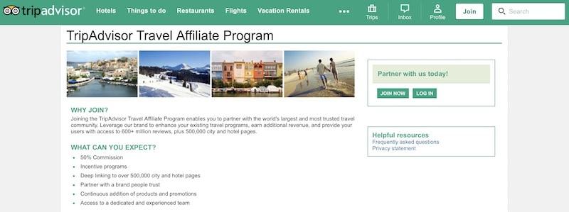 Imagen de programas de afiliados de viajes