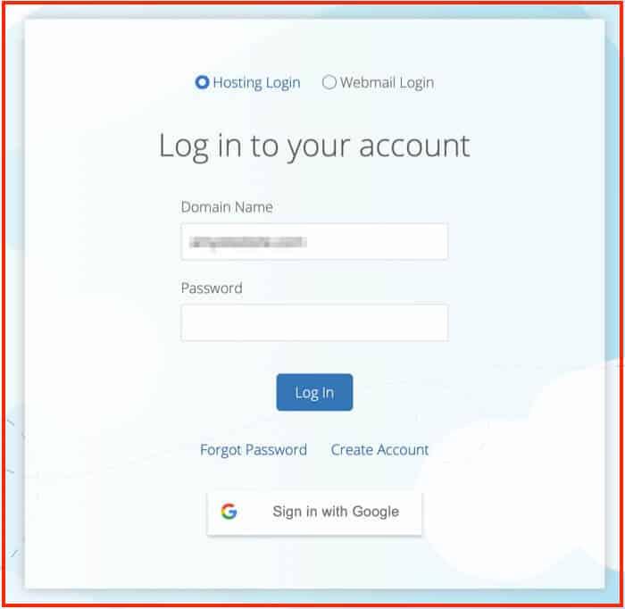 Come avviare un blog - Accesso a Bluehost